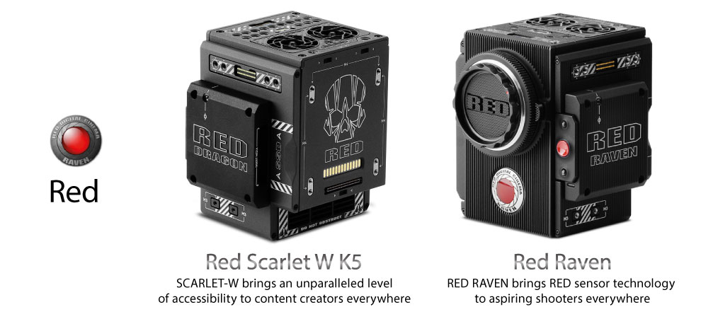Red Scarlet-W K5 and Red Raven 4.5K